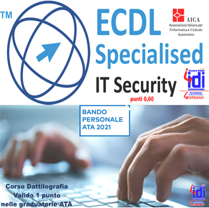 GRADUATORIE ATA – ICDL IT SECURITY + DATTILOGRAFIA punti 1,60